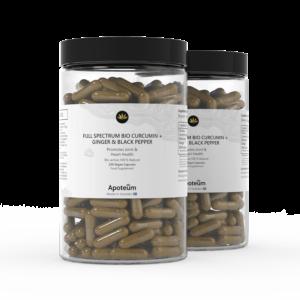 Vollspektrum Bio-Curcumin + Ingwer & Schwarzer Pfeffer 2er-Pack Bundle