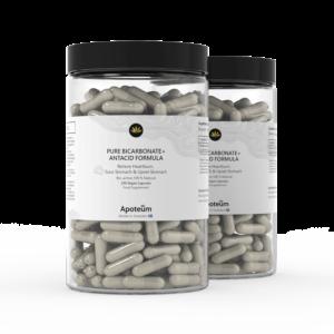 Pures Bicarbonat + Antazidumformel 2er-Pack Bundle