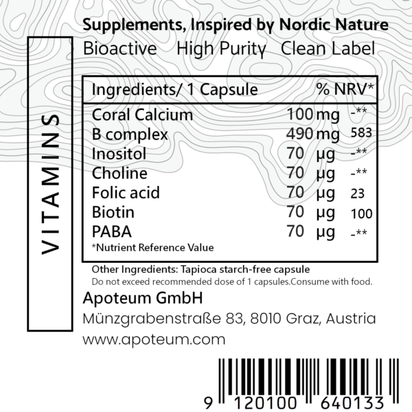 B-Complex + Folic Acid & PABA label