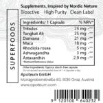 Organic Tribulus + MACA & Damiana label