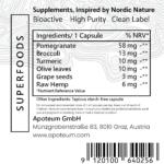 Pomegranate Extract+ Full Spectrum Curcumin label