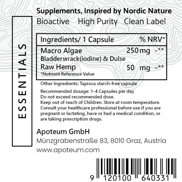 Thyroid support complex + with natural iodine label