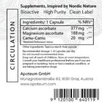 Circulation support + Magnesium & Camu-Camu label