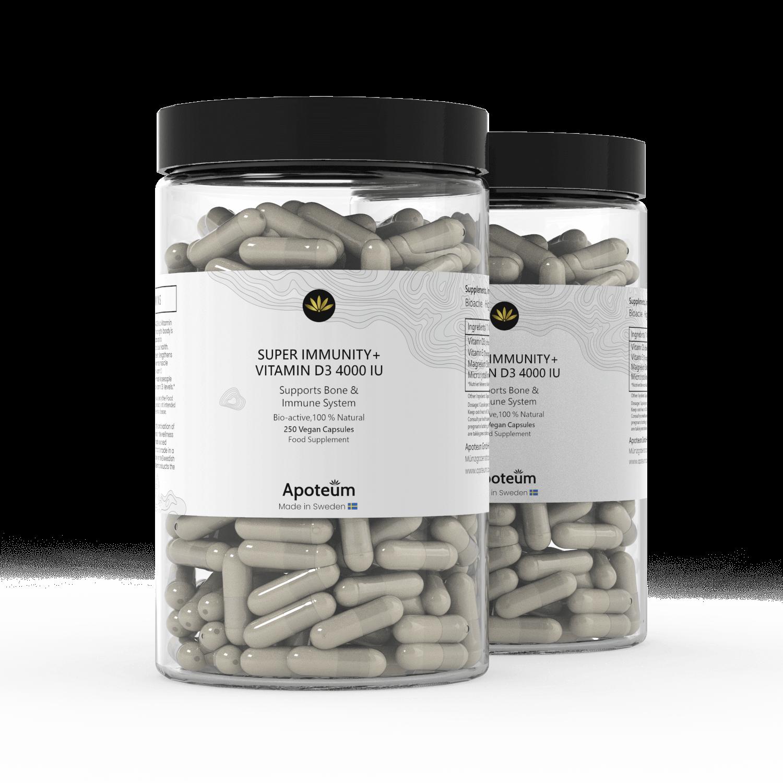 Super Immunity + Vitamin D3 4000 IU 2-Pack Bundle